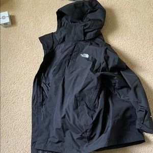 North face winter jacket shell